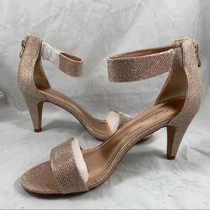 Rose Gold heeled shoes